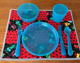 Quilted Kids Placemat / Monsters