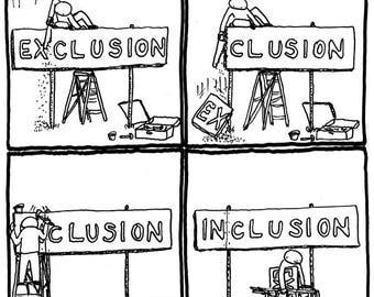 Exclusion or Inclusion CARTOON