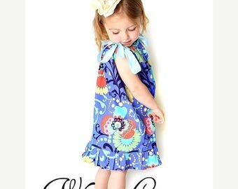SALE Girls Pillowcase Dress w. Ruffles Sewing Pattern