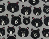 Cotton + Steel Fabric, Teddy & The Bears, C5113-001 Grey, 100% Unbleached Cotton