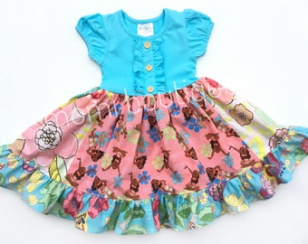 Moana Disney princess dress Moana movie dress Momi boutique custom dress