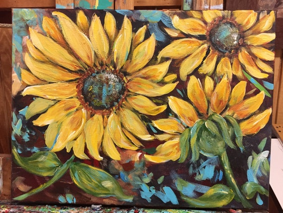 Bright Sunflowers Painting