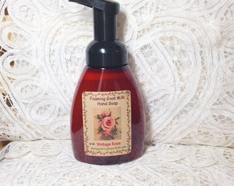 Foaming Hand Soap - Goat Milk - Vintage Rose - Moeggenborg Sugar Bush