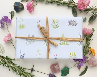 Wildflowers Wrapping Paper / Wildflowers Gift Wrap / Pacific Northwest Gift Wrap / Flowers Wrap / Northwest Flowers Gift Wrap / Wildflowers