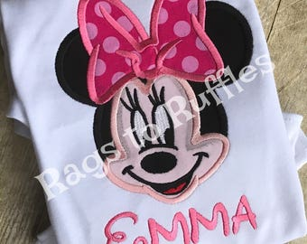 Minnie Mouse Inspired Monogrammed Shirt