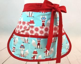 Half Vendor/Utility Sassy Foxy Apron, Womens Regular and Plus Sizes, 6/8 Pockets, great for Teachers, Gardening, Farmers Market, Crafts