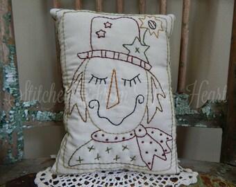 Fall Scarecrow Pillow - Decorative Pillow - Throw Pillow - Yellow Sunflower - Fall Home Decor
