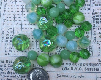 Vintage Green Bead Collection