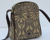 RESERVED FOR RemingT4   Small Shoulder Bag Shimmery Birds and Flowers