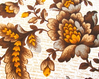 vintage fabric / curtain fabric / home decor / 70s / 60s