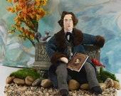Oscar Wilde - Diorama Art- Classic Literature-  Author and Writer - Victorian Author-Dorian Gray
