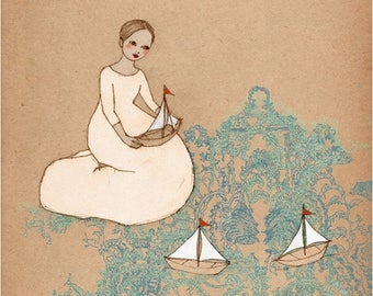 Sale Sail Away Deluxe Edition Print of original drawing