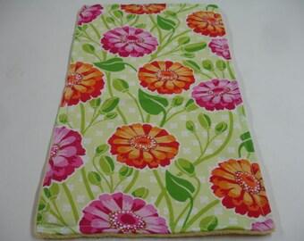Zinnia Garden Baby Burp Cloth 11 x 17 READY TO SHIP On Sale