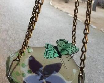 Sale Butterfly Feeder Garden Feeder Bird feeder Stained Glass Garden Art, Container Gardening, Porch decor