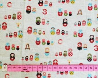 Tréfle matryoshka fabric - 95x30 cm.
