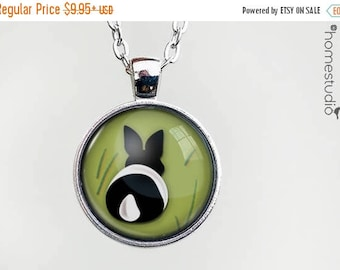 ON SALE - Bunny Butt : Glass Dome Necklace, Pendant or Keychain Key Ring. Gift Present metal round art photo jewelry by HomeStudio