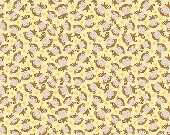 EXTRA15 50% OFF Snips and Snails Monkey Yellow - 1/2 Yard