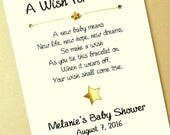 Reserved for Erica. 40 A Wish for Baby - Little Star Theme - Wish Bracelet Party Favor Custom Made for You