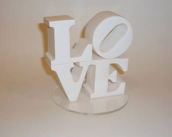 White love cake topper ready to ship
