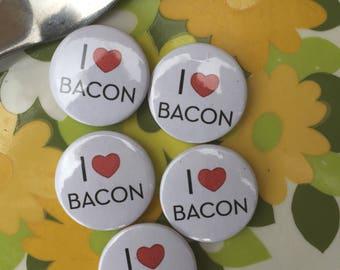 I Love Bacon Pin Badge