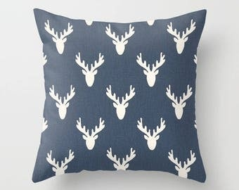 Antlers Pillow cover Deer Pillow Cover Decorative Pillow Cover RV Pillow Hunting Pillow Color Choices