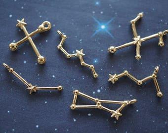 12 pcs Constellations Charm (Less than 24mm) AZ521