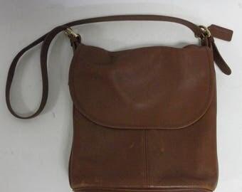 Vintage COACH  Soft Leather Rust Brick  Crossbody  Shoulderbag bag
