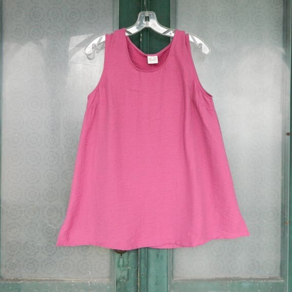 Et' Lois Tank -S- Raspberry Rayon/Nylon NWT