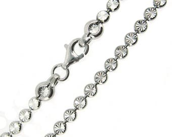 Rhodium Plated Necklace-Sterling Silver Bracelet,Anklet,Necklace,Choker-Unique Chain-For Lady or Gentleman (All size available)SKU:601048_RH