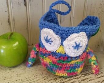 Apple Cozy - Owl Fruit Cozy, kids gift,Owl, teacher gift, fruit cozy, apple cozy,Lunch box, School,Owl