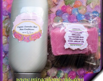 Organic Lavender Bud Shampoo and Conditioner