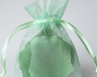 STOREWIDE SALE 12 Pack Sheer Organza Drawstring Bags  2.75 X 4 Inch Size Great For Gifts, Favors, Sachets, Weddings
