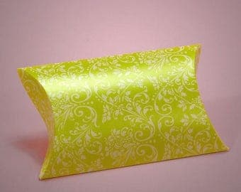 STOREWIDE SALE 12 Pack Damask Pattern Pillow Boxes Perfect for Gift Giving
