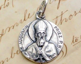 St Augustine / Augustin Medal - Patron of students, beer lovers, printers, theologians
