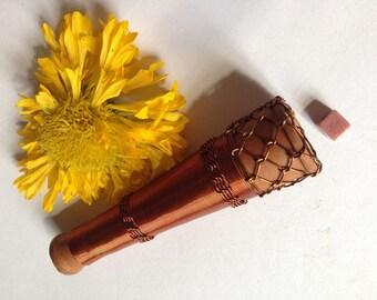 Crochet Copper Wire Sadhu's Chillum Pipe