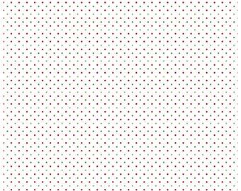 Riley Blake Designs, Swiss Dots Red on White  (C660 80)