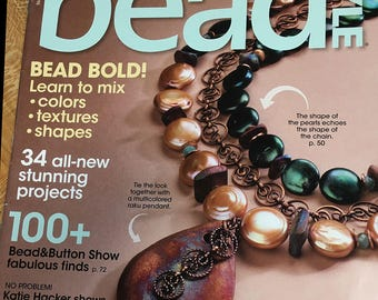Bead Style Magazine Bead Bold Learn to Mix Colors Textures Shapes Customize Pendants Easy Glam Necklace November 2012