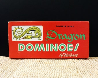 Dragon Dominoes. 1960s vintage domino game.