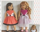 "Save 10% 18"" Doll clothes pattern Fiona Fox Doll Dress sewing Pattern  Avery Lane Designs 18 inch size doll PDF"