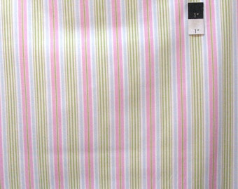 Tanya Whelan TW37 Delilah Stripe Green Cotton Fabric By The Yard