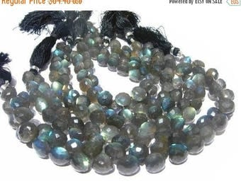 50% Off Sale 1/2 Strand 20 Pcs Blue Flashy Labradorite Micro Faceted Onion Briolettes Size 8-10mm approx