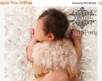 20% OFF EXP 06/30 Natural Feather Angel Butterfly Wings, newborn, Baby, Photography prop, Wedding, Choose Colors