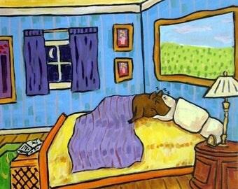 20% off Brown Pot Belly Pig Taking a Nap Animal Art TILE Coaster Gift JSCHMETZ modern abstract folk pop art american ART