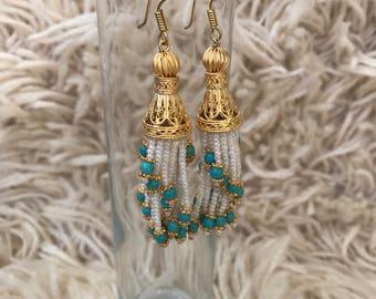 Chandelier Tassle Style Beaded Earring