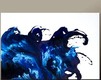 Abstract Canvas Art Painting 36x24 Original Contemporary Paintings by Destiny Womack - dWo - Emotion