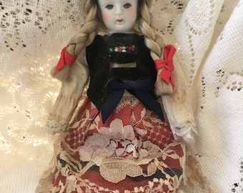 Small Vintage Bisque Doll
