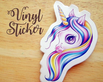 Candy Pop Unicorn Die-cut Vinyl Sticker Decal - Snail Mail Swap