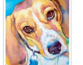 SALE Custom Watercolor Pet Portrait Painting Special Limited Time and Quantity 8 x 10 dog art