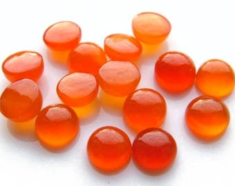 Carnelian Round Cabochon Gemstone ~ Various Sizes