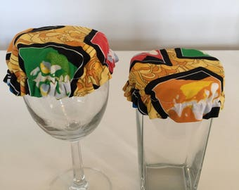 Reusable Wine Cup Glass Cover Beatles Fabric